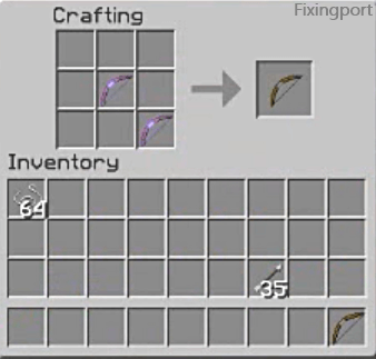 Enchanted bow in craft tool