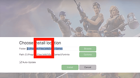 Change Fortnite Location