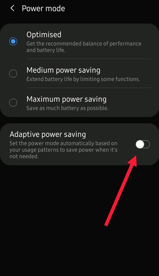 Optimize Power Mode