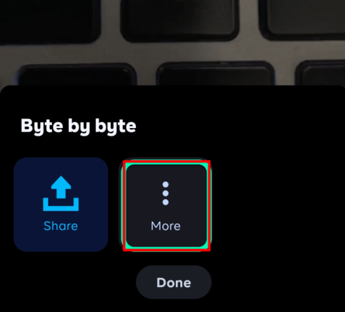 Byte More Button