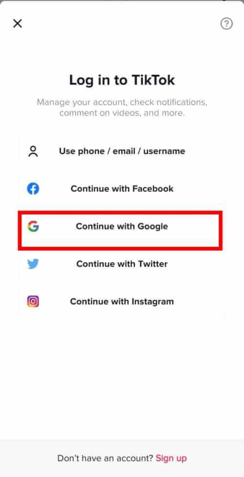 Continue With Google