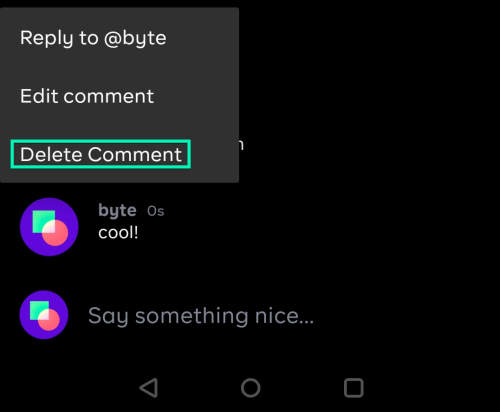 Delete Comment Byte