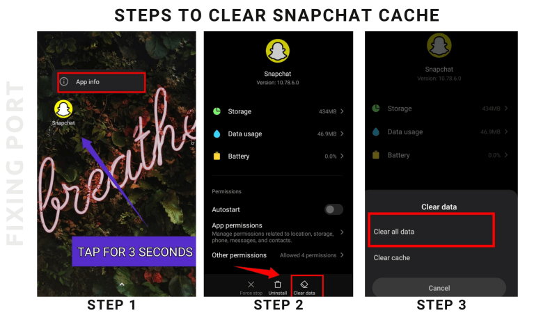 Steps Clear Snapchat Cache