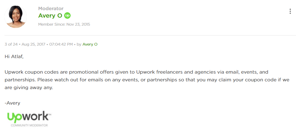 Upwork Connects Promo Codes