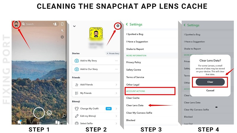 Clear Snapchat Lens Data Image