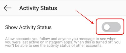 Disable Instagram Activity Status