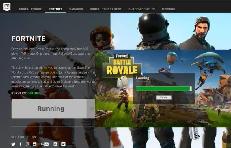 Launch Fortnite
