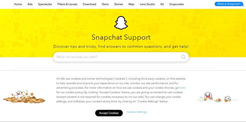 Snapchat Support Or Helpdesk