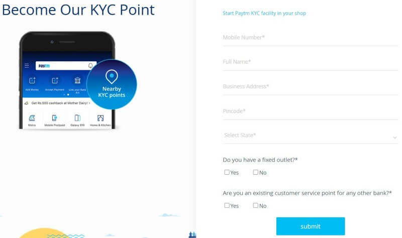 Become Paytm KYC Point