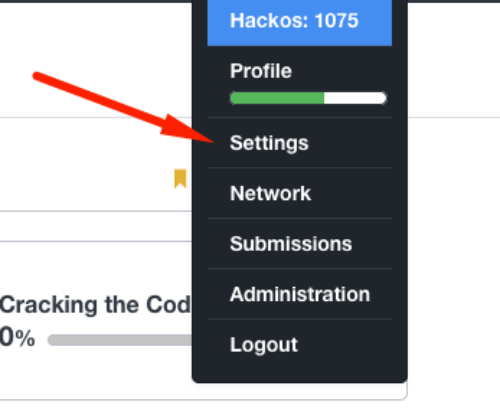 HackerRank Main Settings