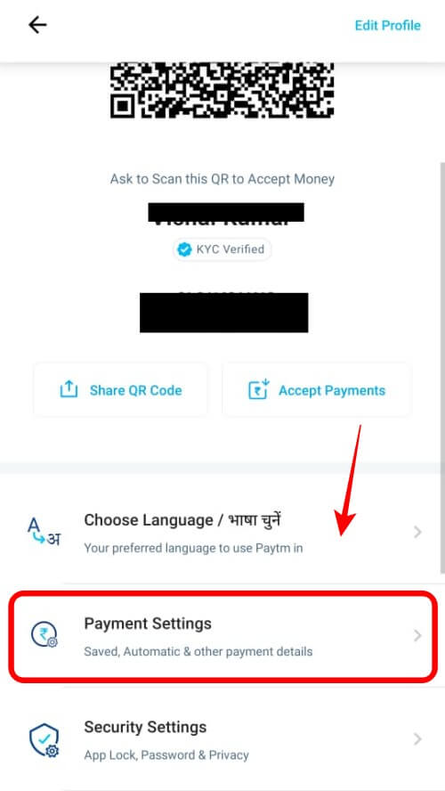 Paytm Payment Settings