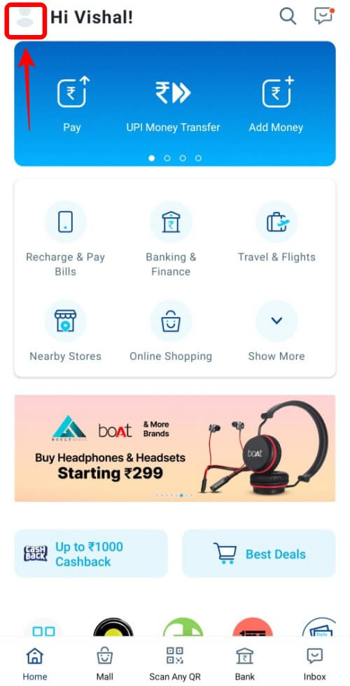 Paytm Profile Icon