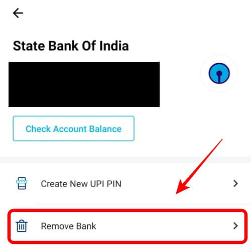 Paytm Remove Bank