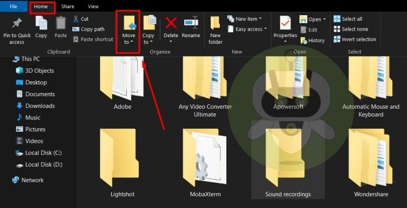 Windows 10 File Explorer Home Tab