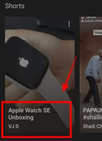 Click On Channel Name In The Story