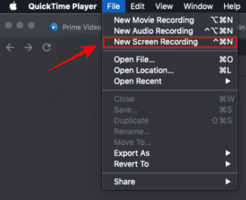 New Screen Recording Option - QuickTime Player