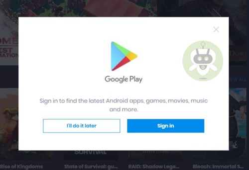 Sign In Google Account BlueStacks