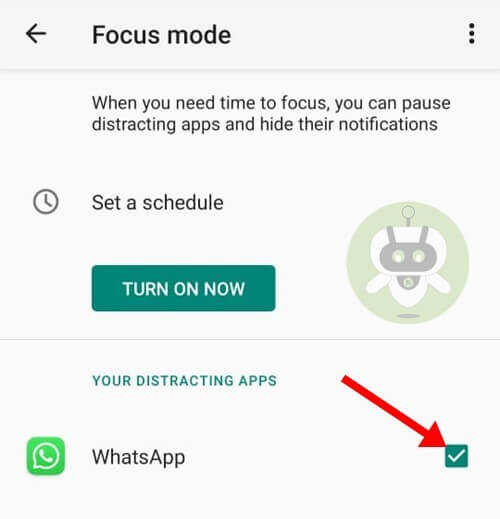 Deselect WhatsApp - WhatsApp Call Android