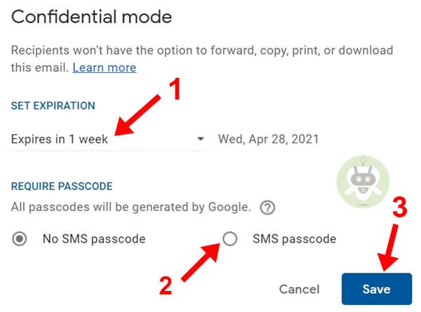 Set Expiration Date And Passcode