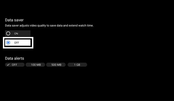 Turn Off Data Saver - Android TV