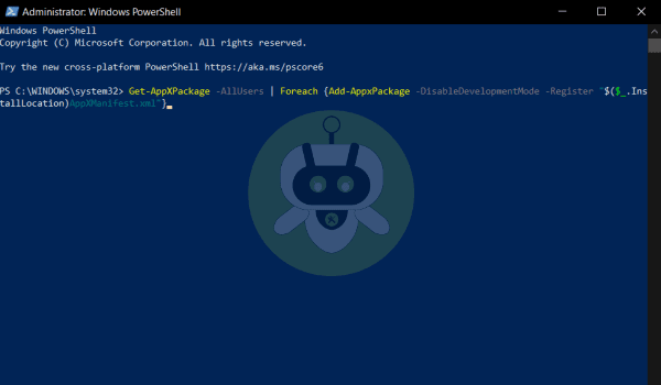 Paste The Code In Windows PowerShell