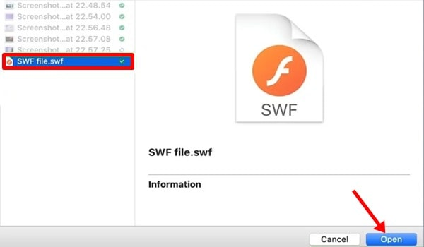 Select File And Click Open