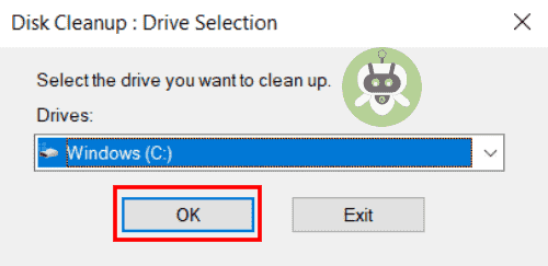 Select The Disk