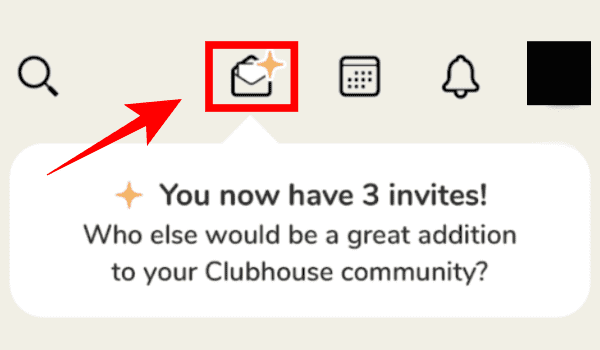 Tap On Mail Option - Clubhouse
