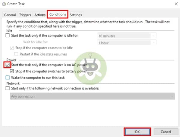 Click Conditions And Select The Option
