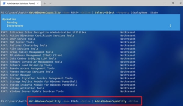 Type The Command In Powershell